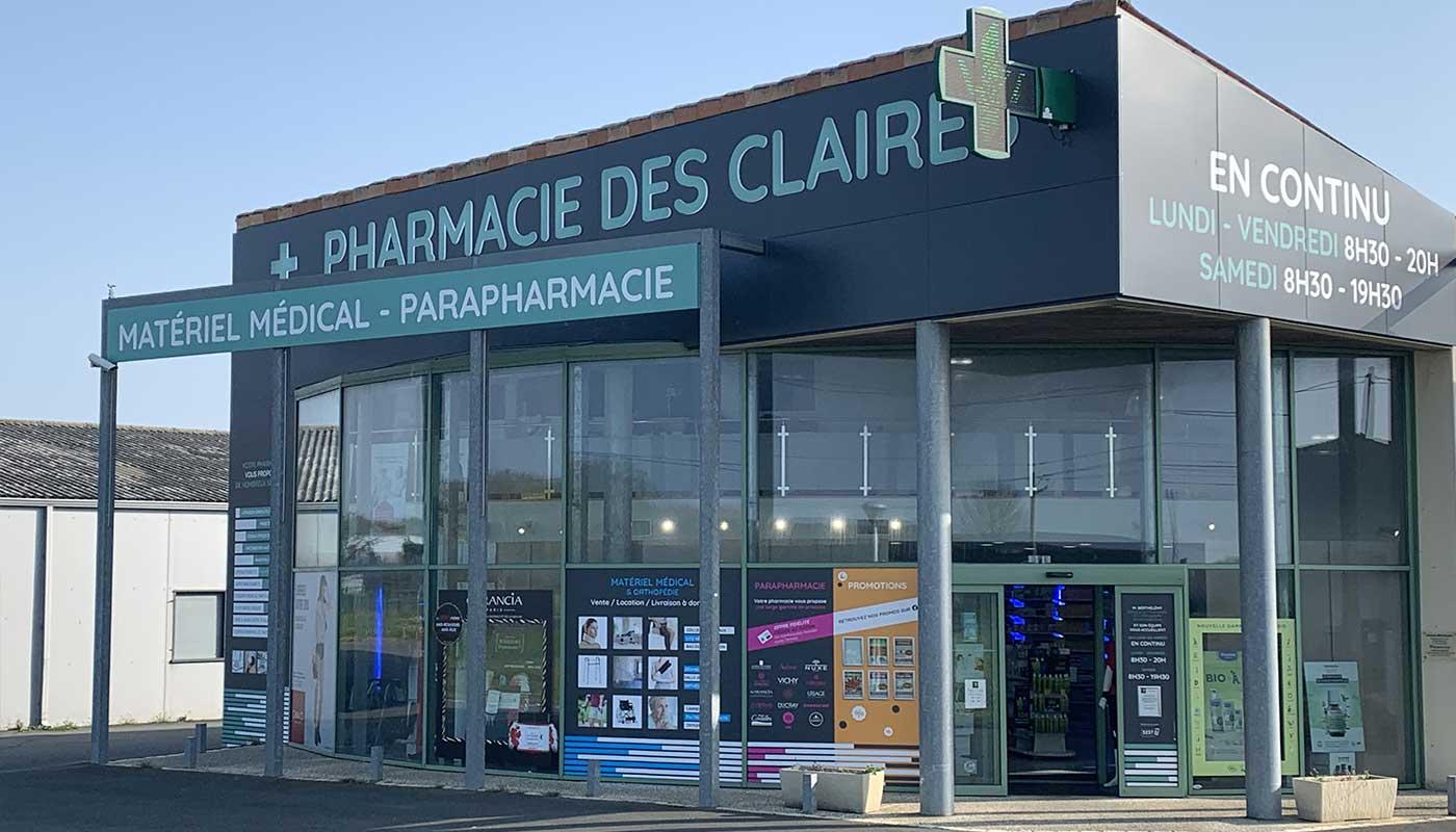 Pharmacie-des-Claires-Saint-Just-Luzac-officine-exterieure